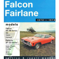 Ford Falcon Fairlane XA XB 302 351 V8 1972 - 1976 Gregorys Workshop Manual 04156