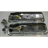 FORD CLEVELAND CHROME 351 LOGO ROCKER COVERS / PCV KIT