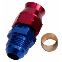 "Aeroflow 1/2"" Hard Line To -8AN Male Adapter Blue W/ Olive AF108-08"