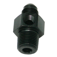 "Aeroflow Male 1/8""Npt To -4AN 1/8"" Port Black 1/8"" To -4AN ,1/8"" Port AF139-04-02BLK"