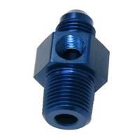 "Aeroflow Male 1/8""Npt To -6AN 1/8"" Port Blue 1/8"" To -6AN ,1/8"" Port AF139-06-02"