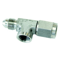 "Aeroflow Straight Female Male -3AN Stainless With 1/8"" NPT Port AF140-03-SS"