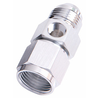 "Aeroflow Straight Female Male -8AN Silver With 1/8"" NPT Port AF140-08S"