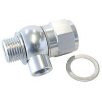 "Aeroflow Oil Pressure Adapter Silver Holden LS LS1 LS2 LS3 with 1/8"" NPT Aux Port AF166-05-02S"