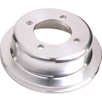 Aeroflow Billet Crank V Pulley 4 Bolt Polished Suit V8 302 351 Ford