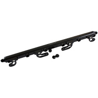 Aeroflow Billet EFI Fuel Injection Rails Black Ford Falcon XR6 FG 4.0 Barra AF64-2113BLK