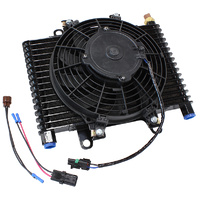 "Aeroflow Competition Oil & Transmission Cooler -10 ORB, 13-1/2"" x 9"" x 3-1/2"", with Fan & Switch AF72-6001"