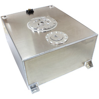 Aeroflow Aluminium Silver 76 Litre (20 Gal) Fuel Cell Flat Bottom Triple 60mm Pump Hanger & Fuel Sender AF85-4070AS