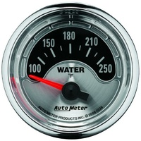 "Auto Meter American Muscle Water Temperature Gauge  2-1/16"" 100-250°F AU1236"