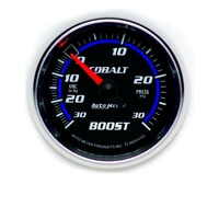 "Auto Meter Cobalt Series Boost/Vacuum Gauge 2-1/16"" Full Sweep Mechanical 30 psi"