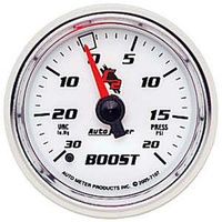 "Auto Meter C2 Series Boost/Vacuum Gauge 2-1/16"" Full Sweep Mechanical 20 psi"