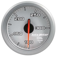 "Auto Meter AirDrive Series Oil Temperature Gauge 2-1/16"" Silver 100-300°F"