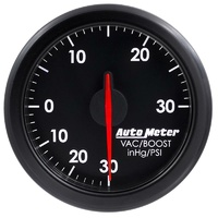 "Auto Meter AirDrive Series Boost/Vacuum Gauge 2-1/16"" Black Electric 30 psi"