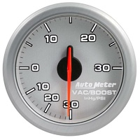 "Auto Meter AirDrive Series Boost/Vacuum Gauge 2-1/16"" Silver Electric 30 psi"
