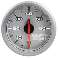 "Auto Meter AirDrive Series Boost Gauge 2-1/16"" Silver Dial Electric 0-60 psi"