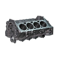 "Dart SHP Cast Iron SB Chev V8 Engine Block with 4-Bolt Ductile Caps 4.125""; Bore, 9.025""; Deck, 350 Mains, 1 Piece Rear Seal DA31161211L"