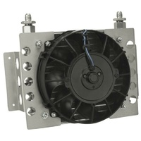 Derale Universal Atomic-Cool Remote Mount Fluid Cooler with Fan DP13750