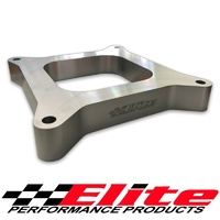 "ELITE 1"" (25MM) BILLET CARBY CARBURETOR SPACER OPEN HOLLEY EDELBROCK 4150"