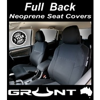 Grunt 4x4 Volkswagen Amarok neoprene car seat covers 2011-2019 Rear