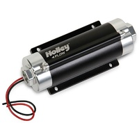 Holley 65 GPH Billet In-Line Fuel Pump Supports Up To 600HP EFI Or 730HP Carb