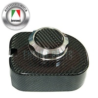VE COMMODORE BRAKE MASTER CYL CARBON. COVER/CAP COVER