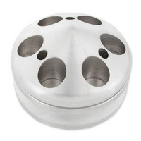 Mr Gasket Billet Style Aluminium Alternator Pulley with Nose Piece Single Groove Suit Small Block Chevy