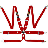 "(2+3)""RACING HARNESSES HANS 6 POINT RED"