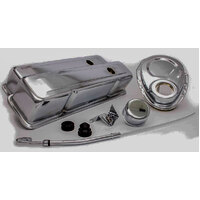 Engine Dress Up Kit (Chrome) with Tall Valve Covers For Smallblock Chev V8 RPCR3024
