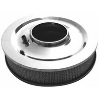 "RPC 14""x 3"" Stainless Muscle Car Style Air Cleaner with Flat Base & Paper Element RPCR9136"