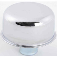 "RPC Chrome Steel Push-in Oil Breather 2-3/4"" Dia with 1"" Neck Fits Valve Covers with 1-1/4"" Holes RPCR4870"