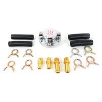 "RPC Chrome Universal Fuel Regulator Complete with 5/16"" & 3/8"" Connectors RPCR5857"