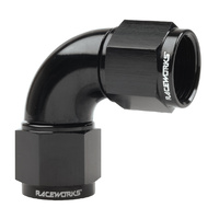 Raceworks Fitting Female To Female Swivel AN-8 90 Deg