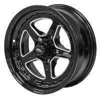 "Street Pro ll Convo Wheel Black 15x7"" Holden Chevrolet Bolt Circle 5 x 4.75"" (-12) 3.50"" Back Space"