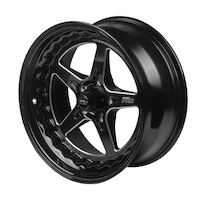 "Street Pro ll Convo Wheel Black 18x7"" Holden Chevrolet Bolt Circle 5x 4.75"", (12) 4.50"" Back Space"